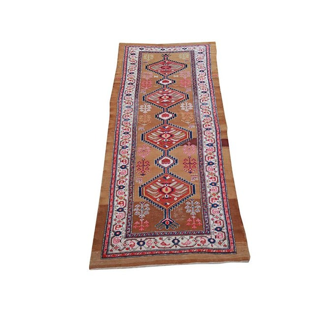 "Antique Persian Sarab Runner-3'8""x 9'6"" For Sale - Image 4 of 4"