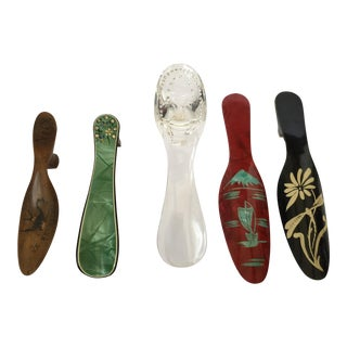 Vintage Collection of Womens Shoehorns - Set of 5