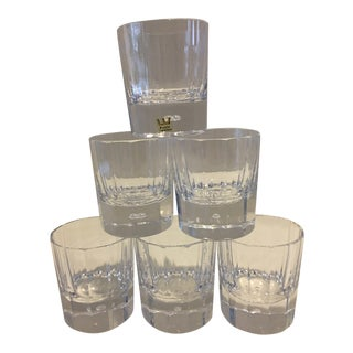Kosta Boda Crystal Bubble Old Fashion Glasses - Set of 6 For Sale