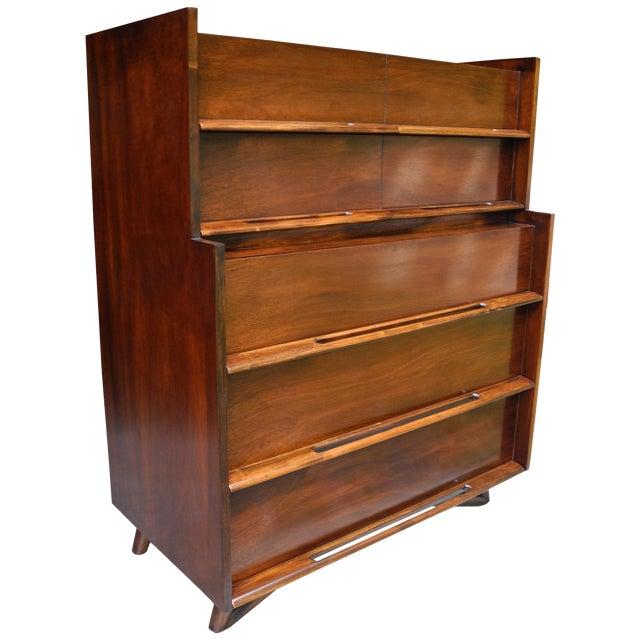 Mid-Century Modern Highboy or Tall Dresser by Edmond J. Spence For Sale