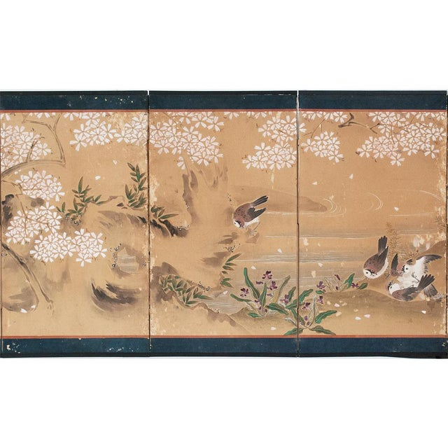 Copper 17th-18th C. Japanese Twelve-Panel Byobu Screen For Sale - Image 8 of 13