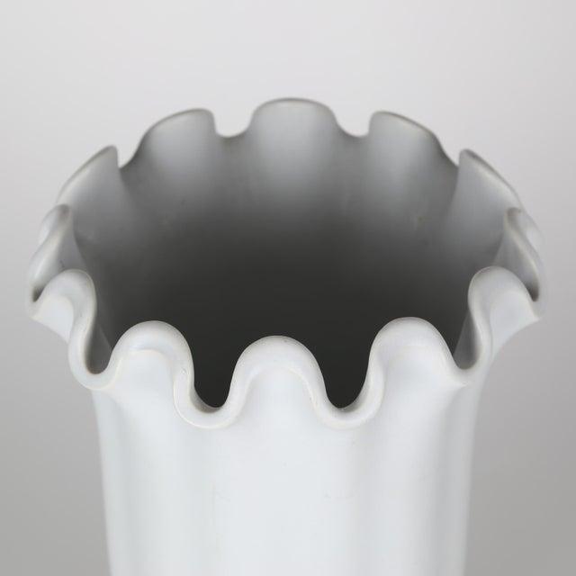 "Porcelain ""Våga"" vase with a soft matte-white glaze, designed by Wilhelm Kåge for Gustavsberg of Sweden, circa 1930s. This..."
