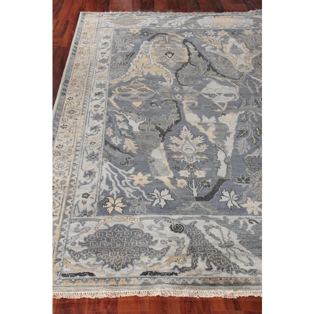 Loch Hand knotted Wool Emerald Rug-12'x15' For Sale - Image 4 of 8