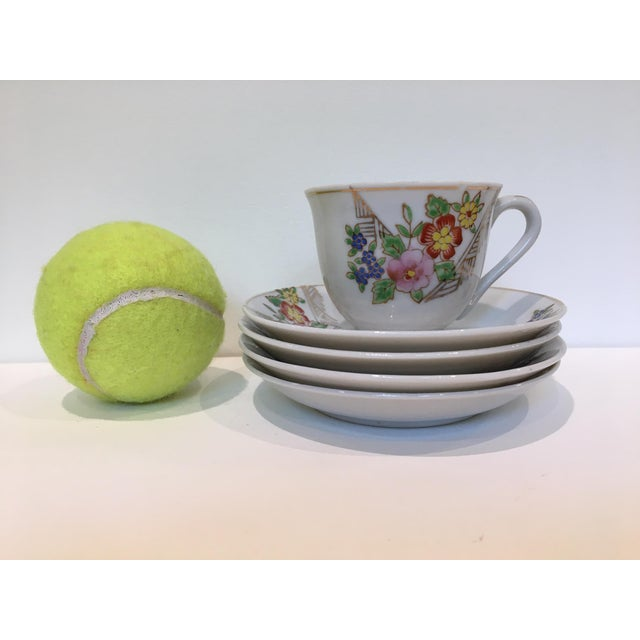 Japanese Tea Cup and Saucers - 5 Piece Set For Sale In Washington DC - Image 6 of 9