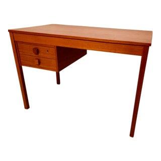 Danish Modern Two-Drawer Teak Desk For Sale