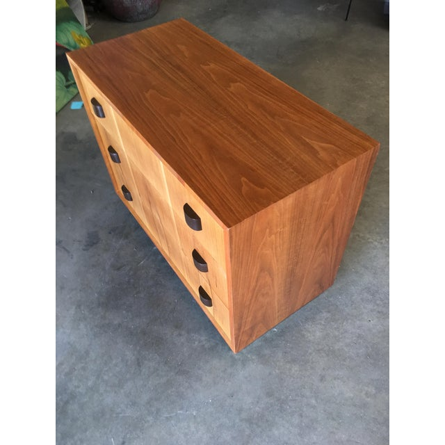 Black George Nelson Inspired Walnut Lowboy Dressers - a Pair For Sale - Image 8 of 10