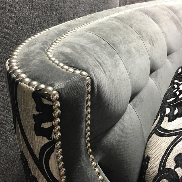 Fleur de Lis Chic Studded Love Seat - Image 5 of 8