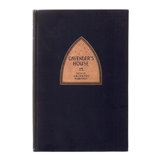 "1929 ""First Edition, Cavender's House"" Collectible Book For Sale"