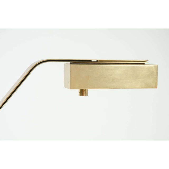 Casella Brass Flat Bar Cantilevered Table Lamp For Sale - Image 9 of 9