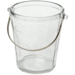 1940s Art Deco Etched Crystal Ice Bucket For Sale