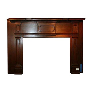 19th Century American Wood Mantel For Sale