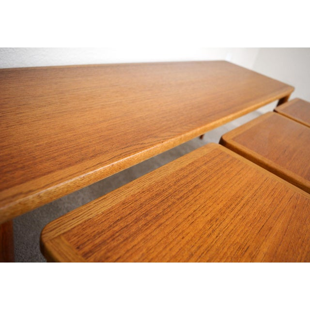 Brown Dux of Sweden 1960s Teak Coffee Table With Three Nesting Tables - 4 Pieces For Sale - Image 8 of 13