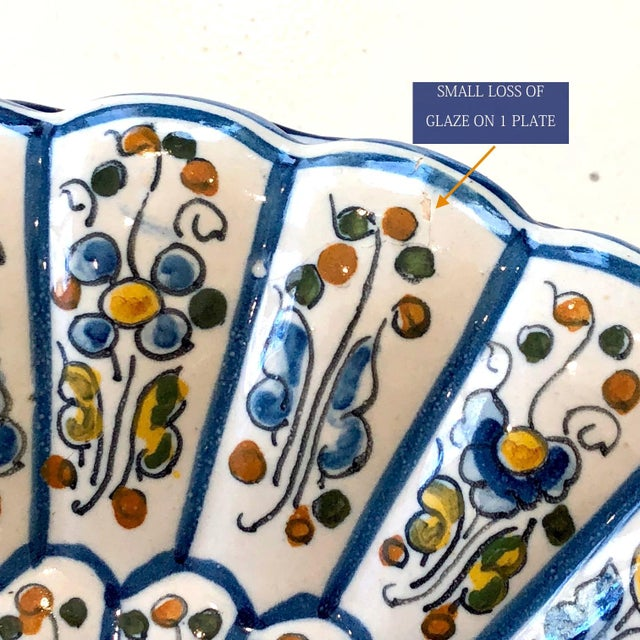 Ceramic Vintage Talavera Vintage Plates - Set of 8 For Sale - Image 7 of 12
