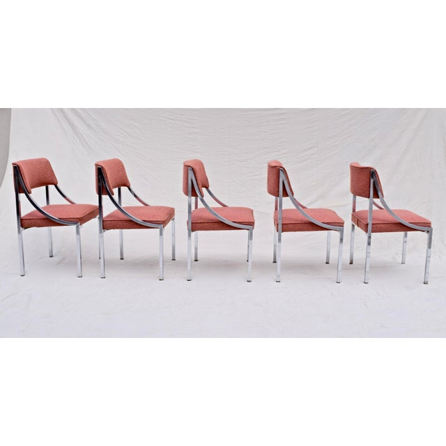 Wolfgang Hoffmann Wolfgang Hoffman Howell Chrome Dining Chairs For Sale - Image 4 of 8