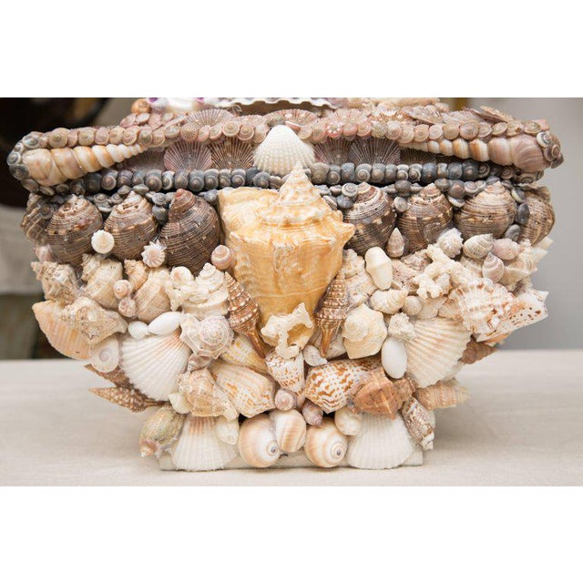 1980s Shell Encrusted Lidded Box For Sale - Image 5 of 10