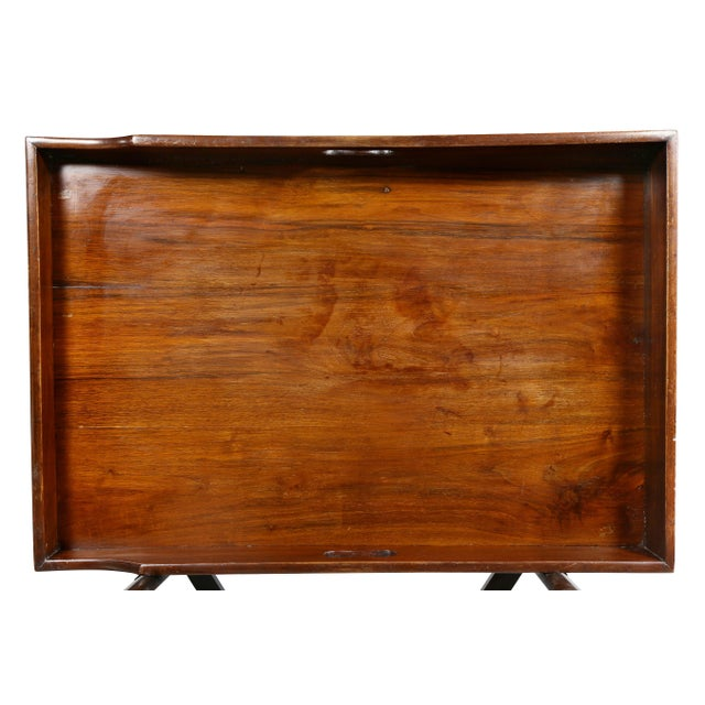 Traditional Victorian Mahogany Tray Table on Stand For Sale - Image 3 of 8
