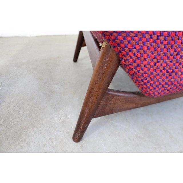 Mid-Century Danish Modern Ohlsson Style Bramin Teak Easy Lounge Chair & Ottoman For Sale - Image 10 of 13