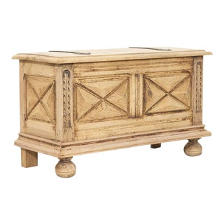 French Louis XIII Style Bleached Oak Petite Coffer For Sale
