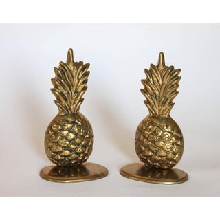 Brass Pineapple Bookends Preview