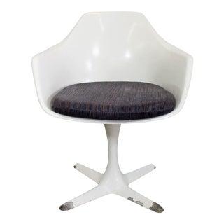 Mid-Century Danish Modern Saarinen-Style Burke Tulip Arm Dining Chair For Sale