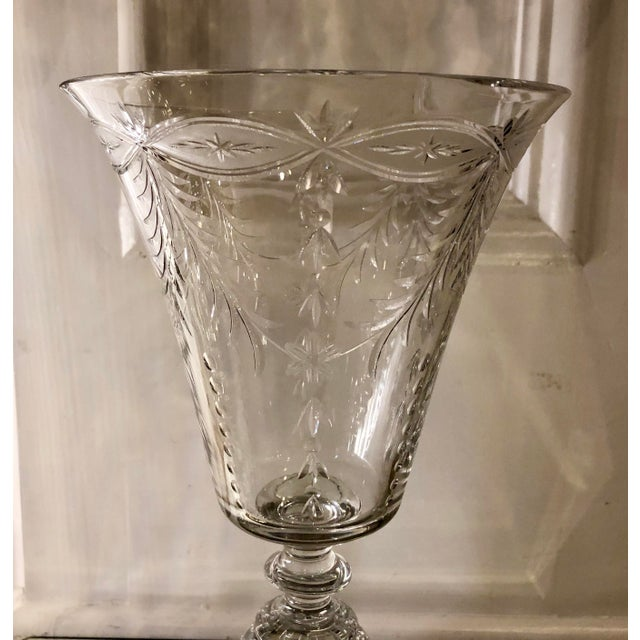 Pairpoint Glassworks Antique Art Deco Pairpoint Crystal Chalice For Sale - Image 4 of 5