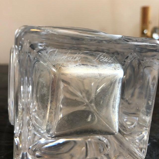 Transparent Crystal Vase by Bengt Edenfalk For Sale - Image 8 of 10