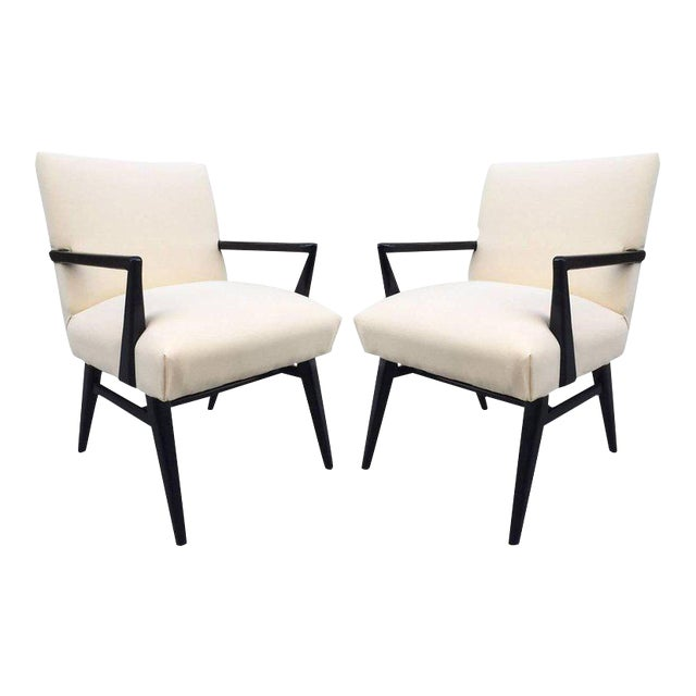 Pair of Jens Risom Armchairs For Sale