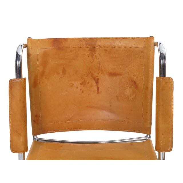 """Circa 1970s Vintage Chrome and Leather """"Klint"""" Arm Chairs by Tord Bjorklund - a Pair For Sale - Image 12 of 13"""