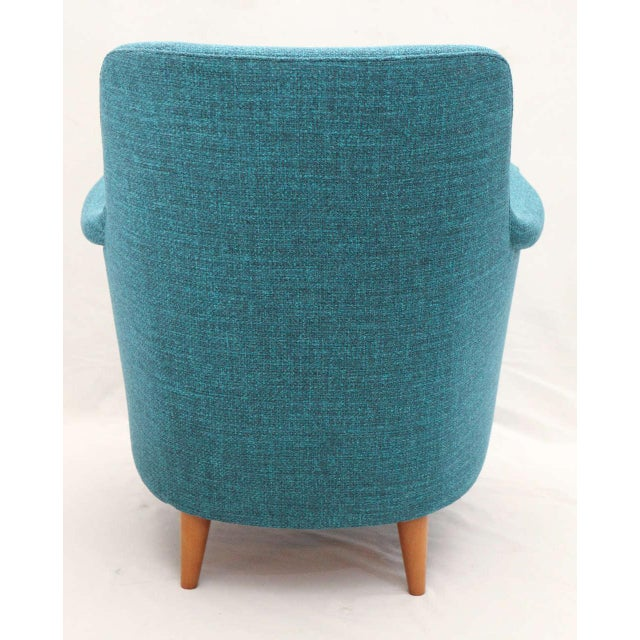 "Teal Carl Malmsten ""Samsas"" Lounge Chair For Sale - Image 8 of 9"