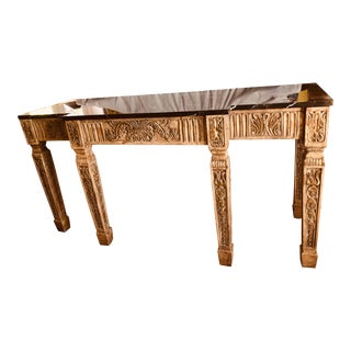 French Carver Step Back Sofa Table For Sale