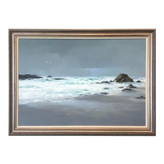 "Late 20th Century ""Symphony"" Seascape Oil Painting by Frank McCoy, Framed For Sale"