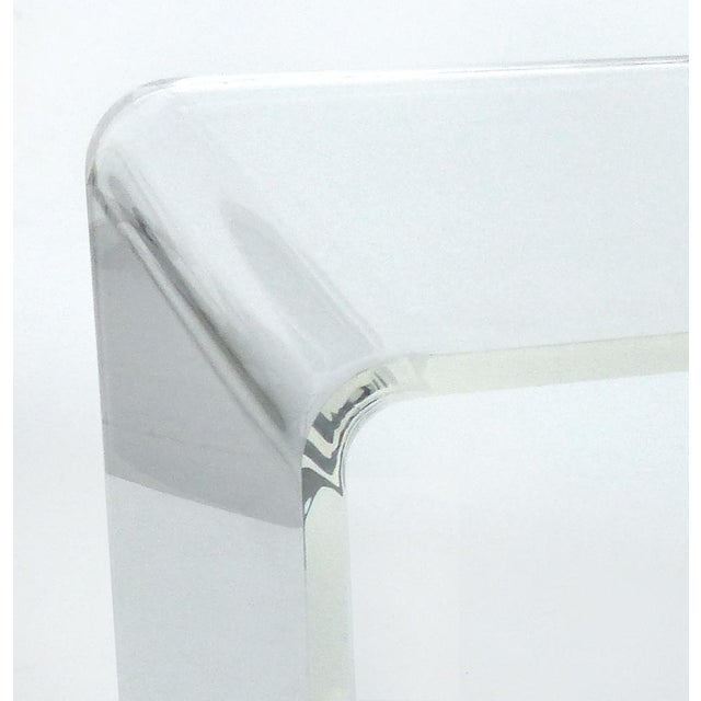 Early 21st Century Custom Lucite Curved Sides Waterfall Table or Bench For Sale - Image 5 of 8