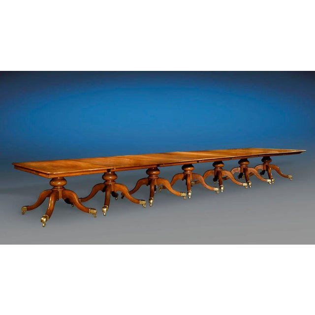 Measuring over 30 feet in length, this tremendous and highly versatile English dining table is the greatest M.S. Rau...