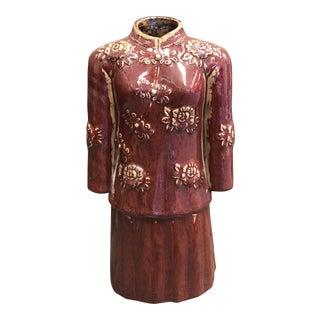 Asian Style Kimono Vase For Sale