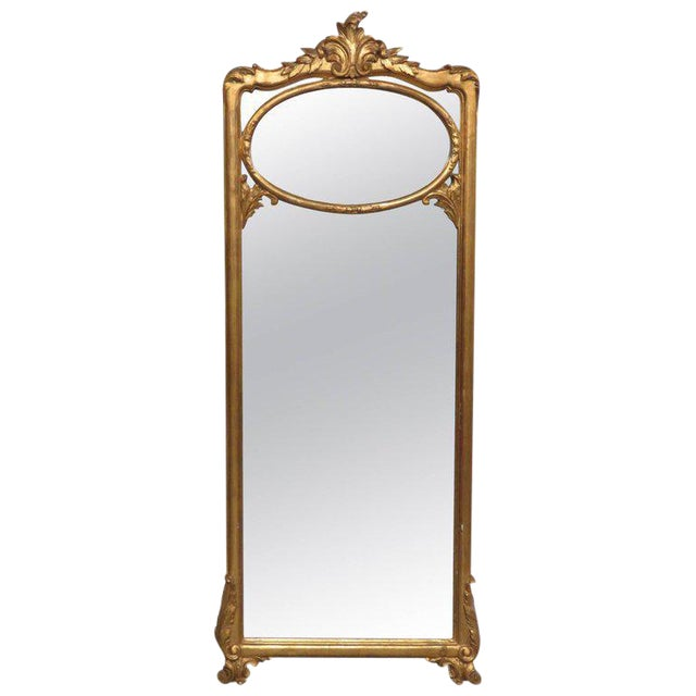 Friedman Brothers Victorian Style Hall Mirror For Sale