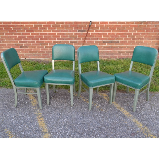 Industrial Steelcase Mid Century Office Chairs - Set of 4 For Sale - Image 3 of 8