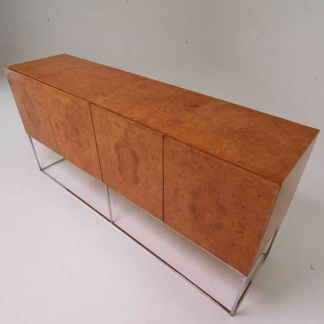 Bauhaus Milo Baughman for Thayer Coggin Burl Cabinet For Sale - Image 3 of 4