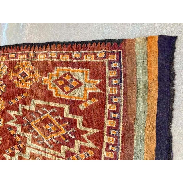 Textile Moroccan Vintage Hand-woven Marrakech Tribal Rug, circa 1960 For Sale - Image 7 of 13
