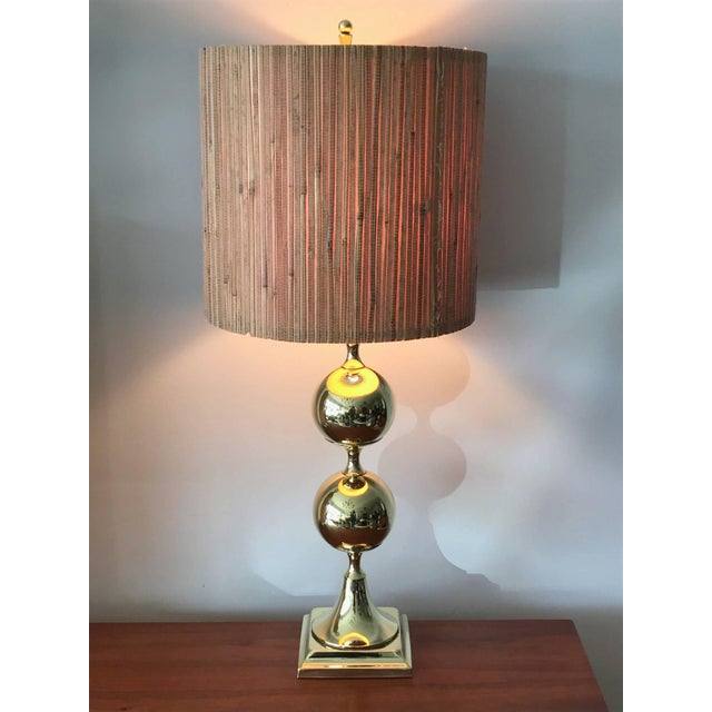 1960s 1960s Tower Craftsman Polished Brass Lamp For Sale - Image 5 of 6
