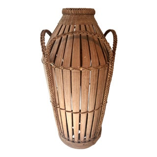 Wicker Rattan Basket Urn