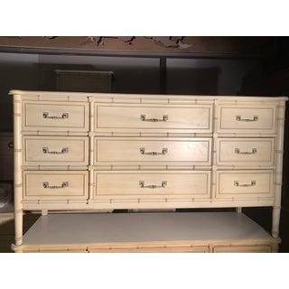 1960s Vintage Regency Bamboo Dresser Preview