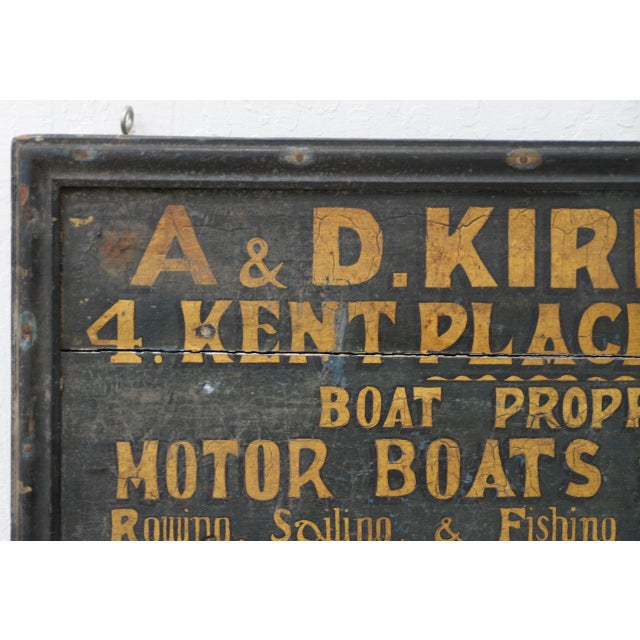 19th Century British Boat Proprietor Hand Painted Sign For Sale - Image 4 of 7