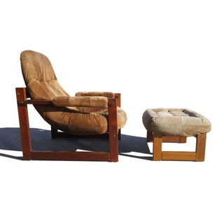 Mid-Century Modern Percival Lafer Brazilian Space Age Earth Lounge Chair and Ottoman Preview
