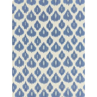 Scalamandre Amara Ikat Weave, Lapis Fabric For Sale