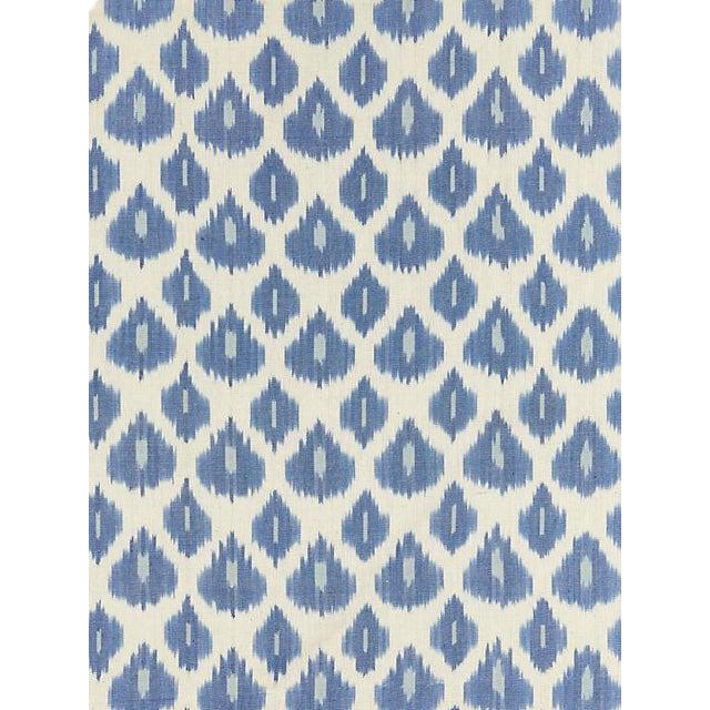 Scalamandre Amara Ikat Weave, Lapis Fabric For Sale