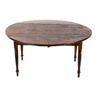 19th Century English Traditional Drop Leaf Occasional Coffee Table For Sale