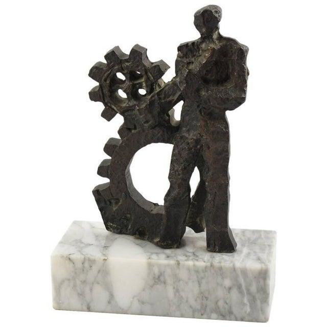 Mid-Century Modernist Brutalist Bronze Sculpture For Sale - Image 11 of 11