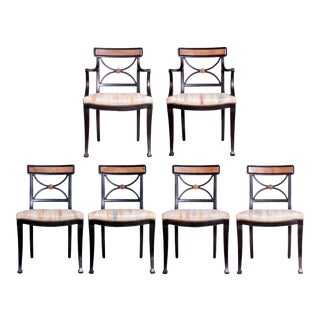 Neoclassical Style Dining Chairs- Set of 6 For Sale