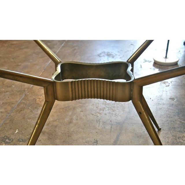 Gold Italian 1950s Brass Cocktail Table For Sale - Image 8 of 9
