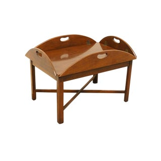 Late 20th Century Vintage Hickory Chair Co. Coffee Table For Sale